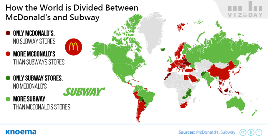 Subway Restaurant Locations Map